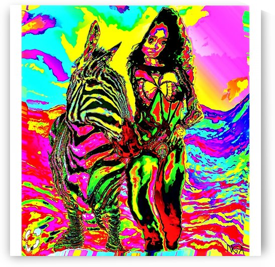 Zebra Girl by neil gairn adams by Neil Gairn Adams