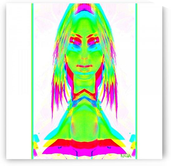 Lady in Green by neil gairn adams  by Neil Gairn Adams