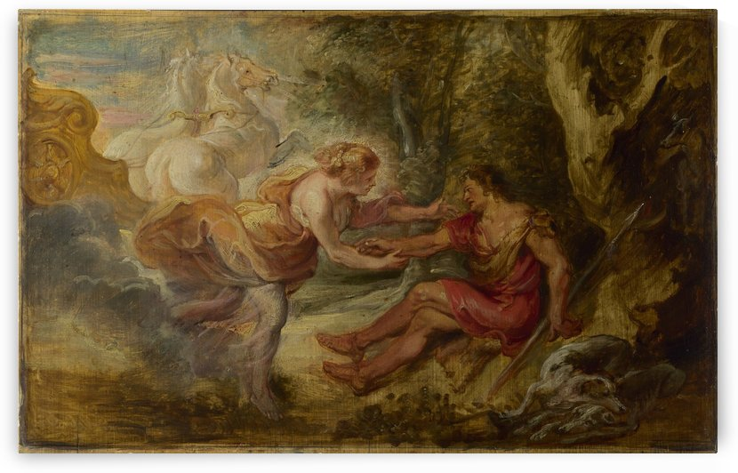 Aurora abducting Cephalus by Peter Paul Rubens