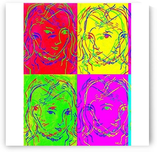 4 Faces by neil gairn adams  by Neil Gairn Adams