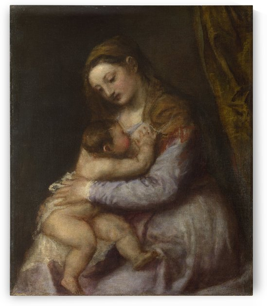 The Virgin suckling the Infant Christ by Titian