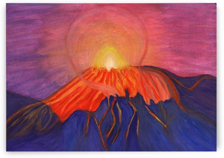 Glow fading volcano by Dobrotsvet Art