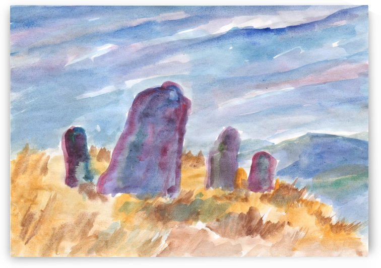 Ancient stones guard the silence by Dobrotsvet Art