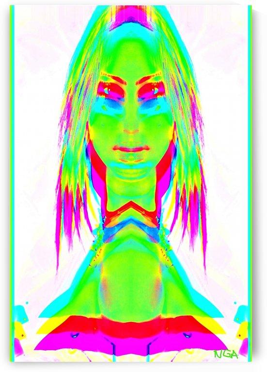 Lady in Green 2 -  by Neil Gairn Adams by Neil Gairn Adams