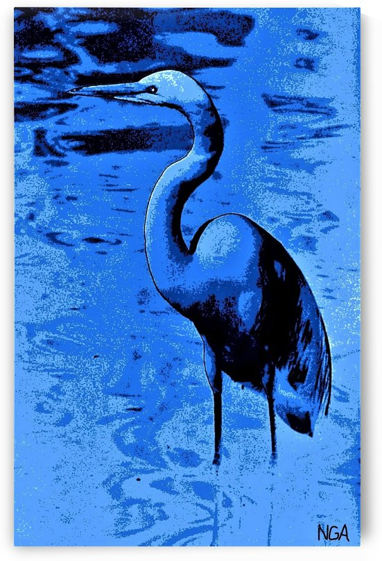 Bird in the Water -  by Neil Gairn Adams by Neil Gairn Adams