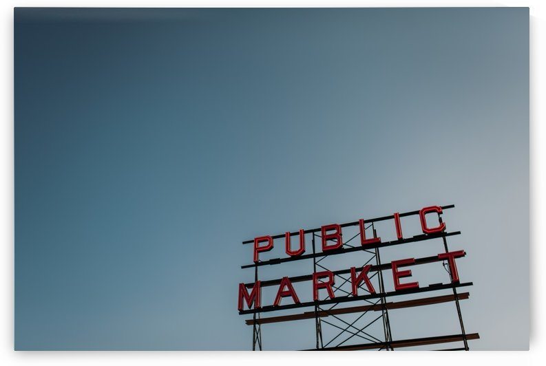 Seattle Public Market Sign by StephanieAllard
