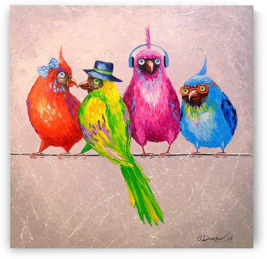 Cheerful company by Olha Darchuk