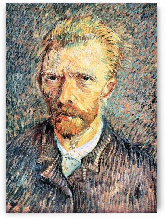 Self-portrait in brown shirt by Van Gogh by Van Gogh
