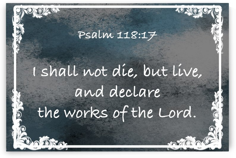 Psalm 118 17 9CH by Scripture on the Walls