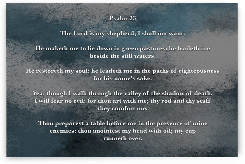 Psalm 23 5CH by Scripture on the Walls