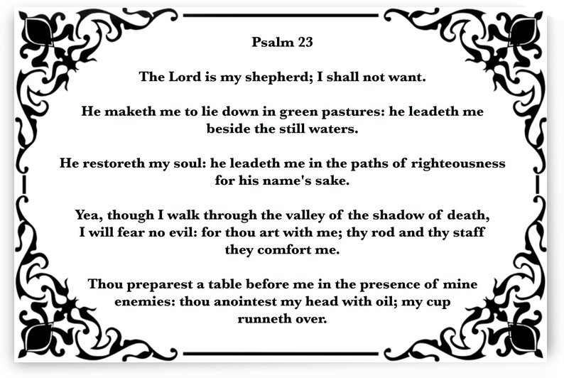 Psalm 23 1WB by Scripture on the Walls