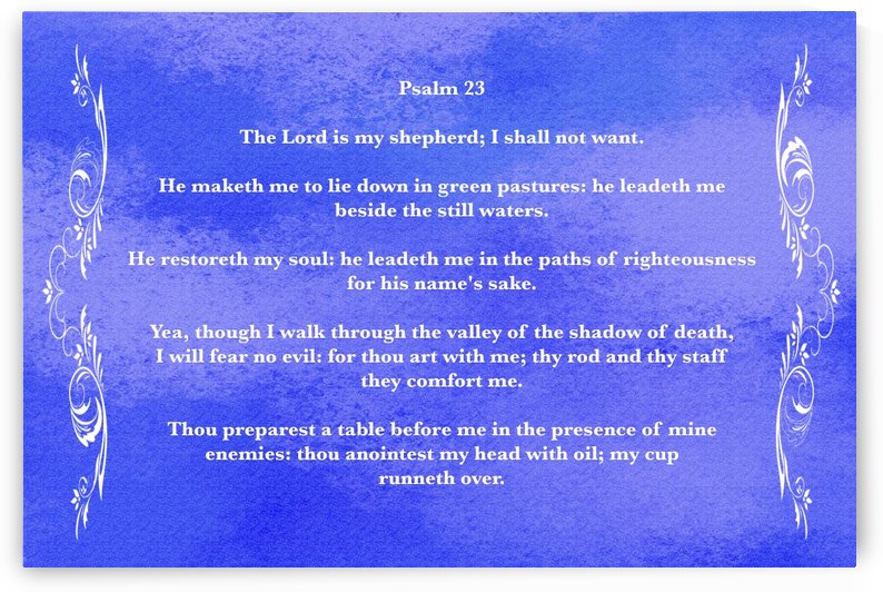 Psalm 23 4BL by Scripture on the Walls