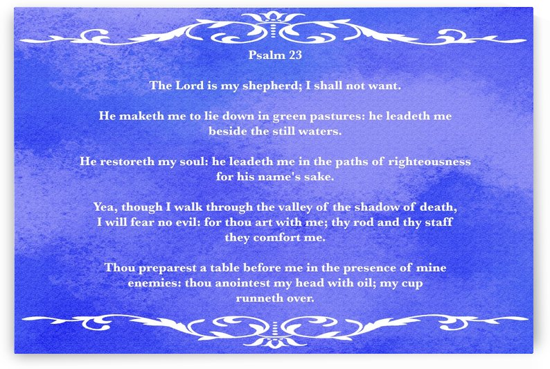 Psalm 23 3BL by Scripture on the Walls