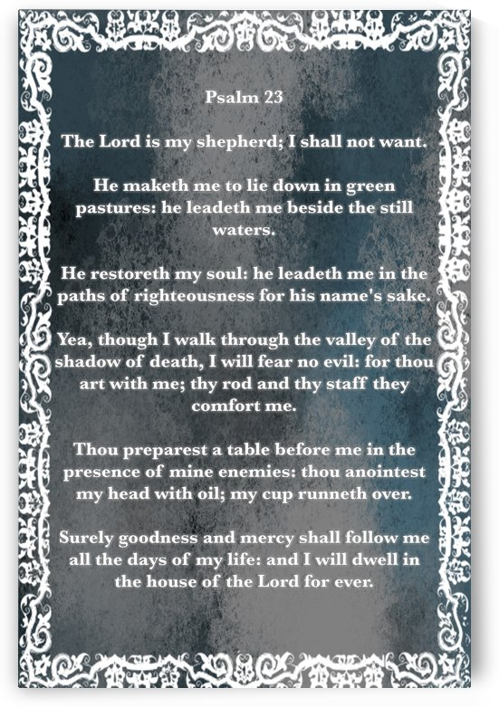 Psalm 23 10CH by Scripture on the Walls