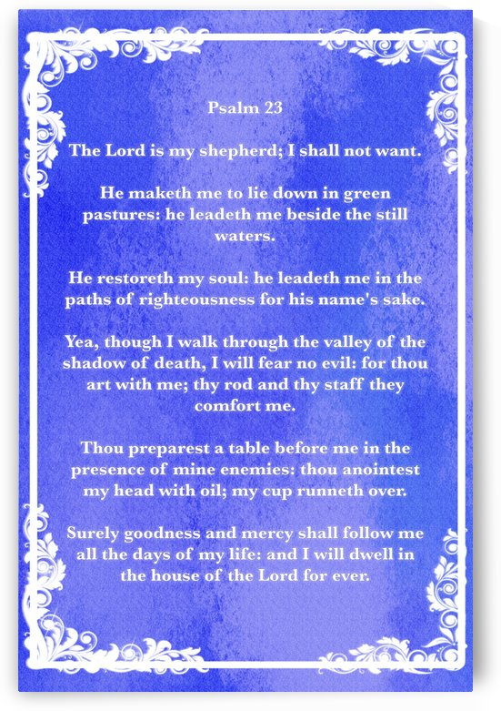 Psalm 23 8BL by Scripture on the Walls