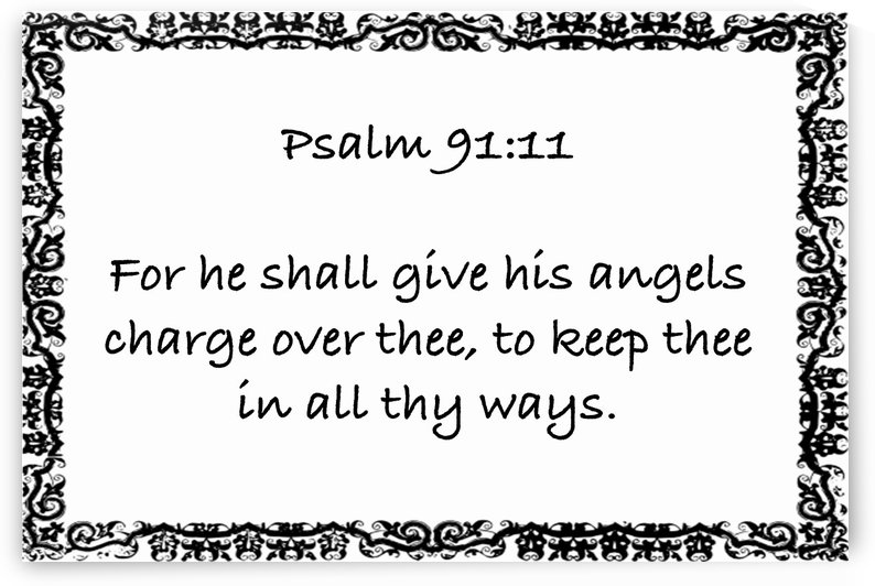 Psalm 91 11 10WB by Scripture on the Walls
