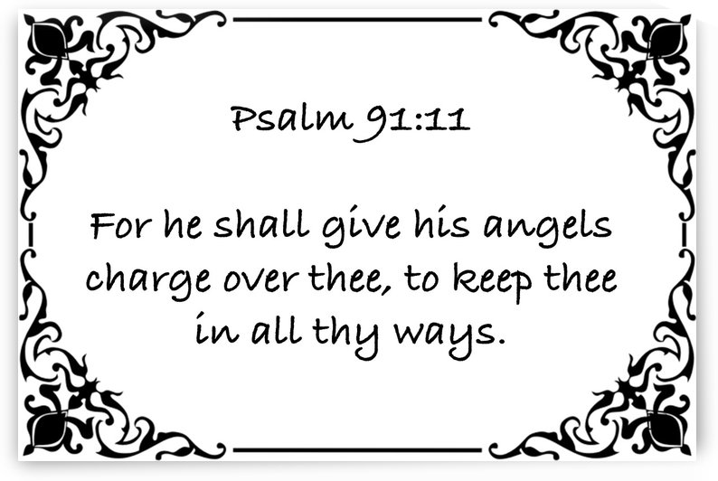 Psalm 91 11 1WB by Scripture on the Walls