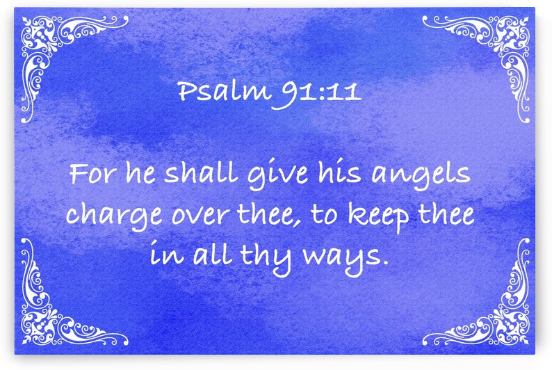 Psalm 91 11 5BL by Scripture on the Walls