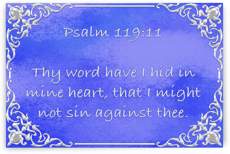 Psalm 119 11 1BL by Scripture on the Walls