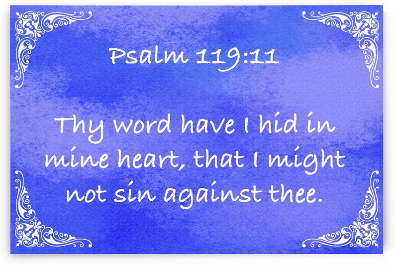 Psalm 119 11 5BL by Scripture on the Walls