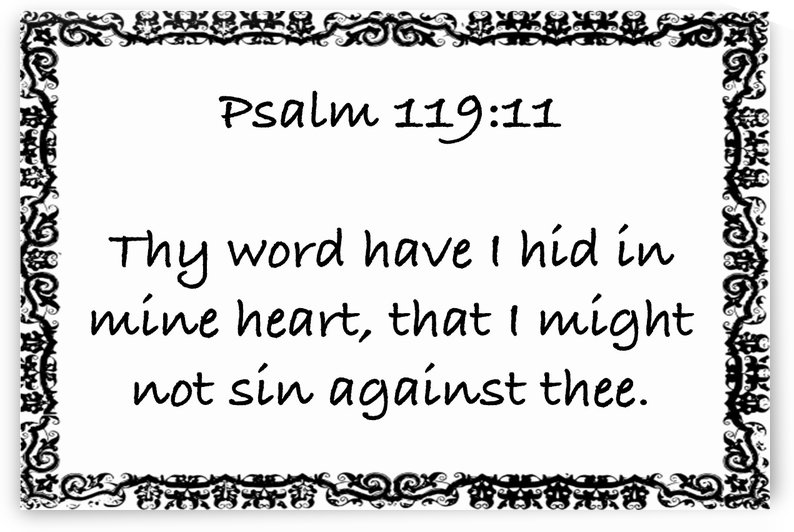 Psalm 119 11 10WB by Scripture on the Walls
