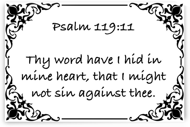 Psalm 119 11 1WB by Scripture on the Walls