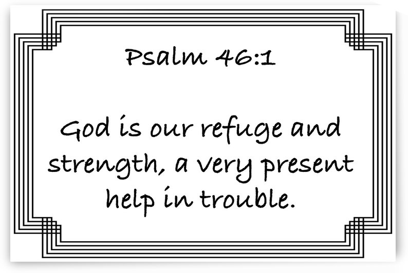 Psalm 46 1 2WB by Scripture on the Walls