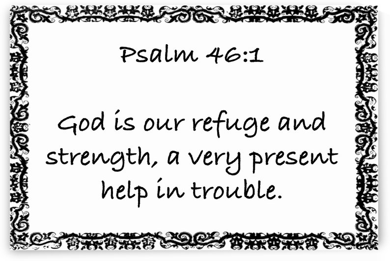 Psalm 46 1 10WB by Scripture on the Walls