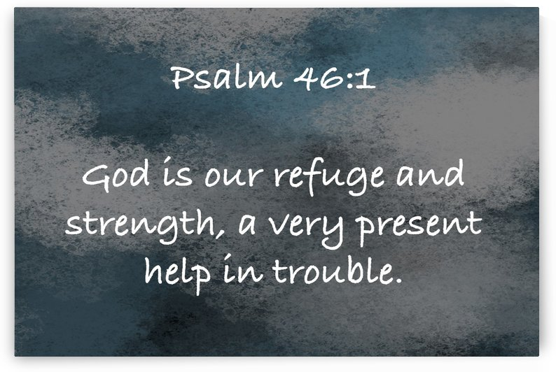 Psalm 46 1 5CH by Scripture on the Walls