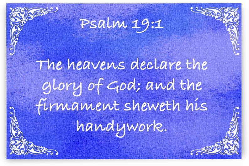 Psalm 19 1 5BL by Scripture on the Walls