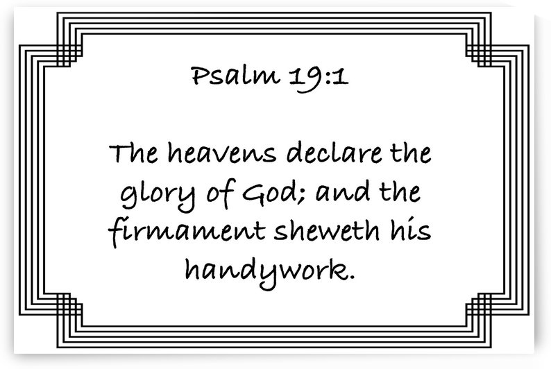 Psalm 19 1 2WB by Scripture on the Walls