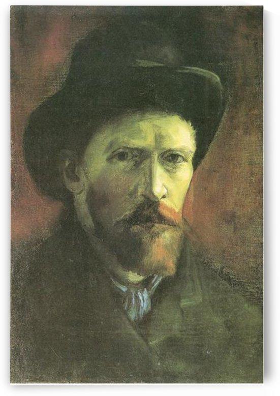 Self-portrait with dark felt hat by Van Gogh by Van Gogh