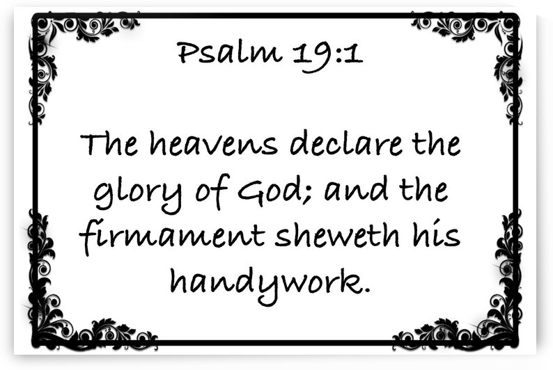 Psalm 19 1 9WB by Scripture on the Walls