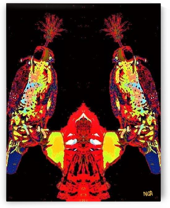 A Pair of Falcons -  by Neil Gairn Adams  by Neil Gairn Adams