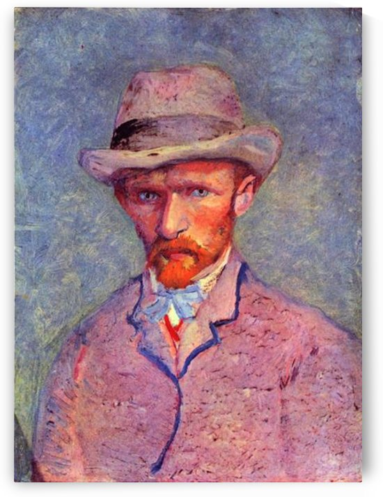 Self-portrait with gray hat by Van Gogh by Van Gogh
