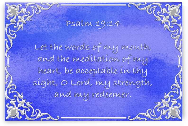 Psalm 19 14 1BL by Scripture on the Walls