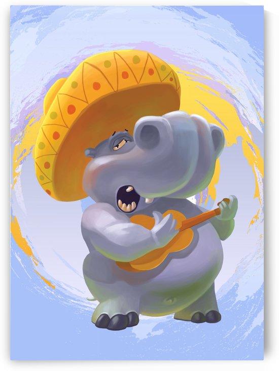 Hippopotamus mariachi by Adi Daniel Antone