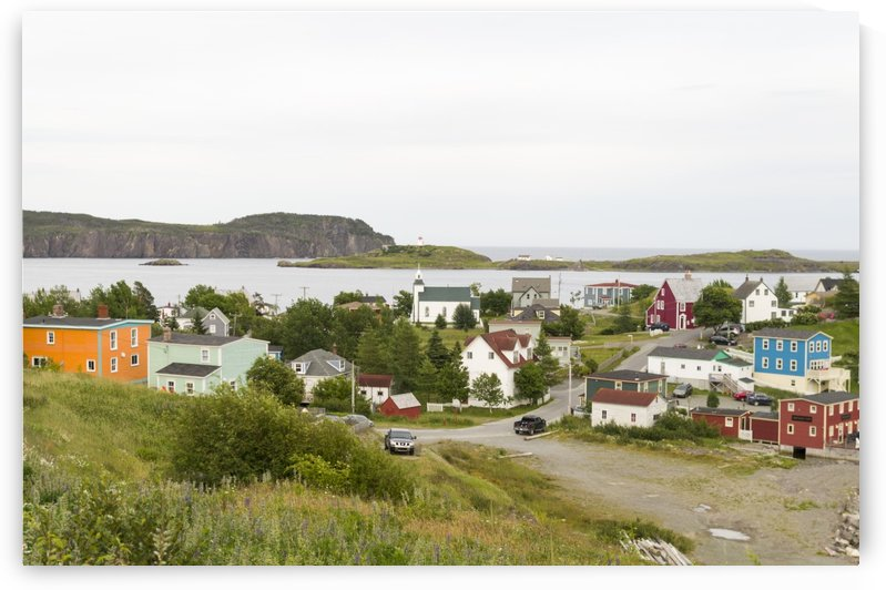 Overlooking the village of Trininity Newfoundland by Bob Corson