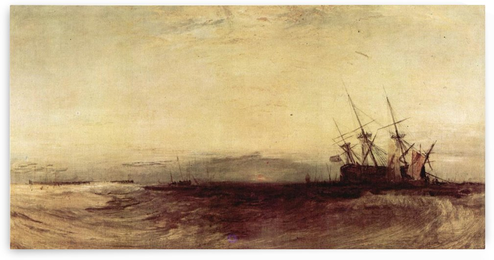 Ship aground by Joseph Mallord Turner by Joseph Mallord Turner