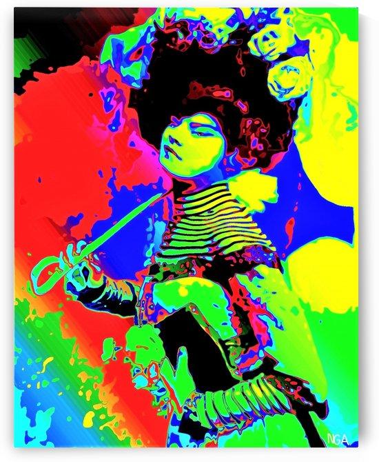 Lady with Parasol - by Neil Gairn Adams  by Neil Gairn Adams
