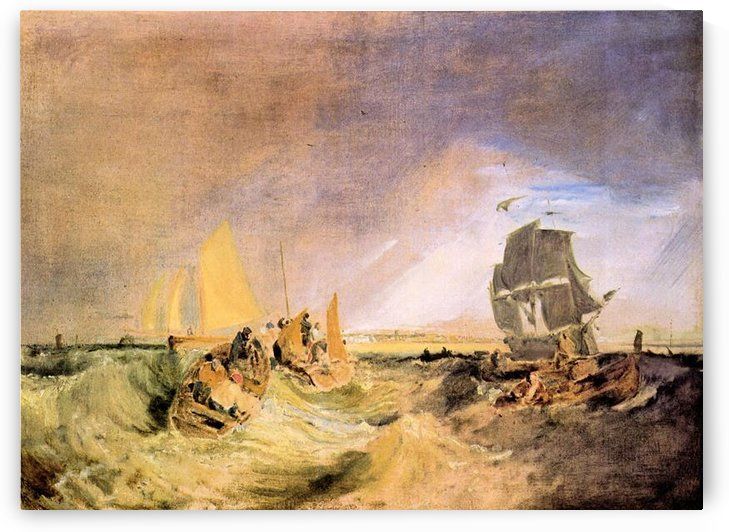 Shipping at the mouth of the Thames by Joseph Mallord Turner by Joseph Mallord Turner