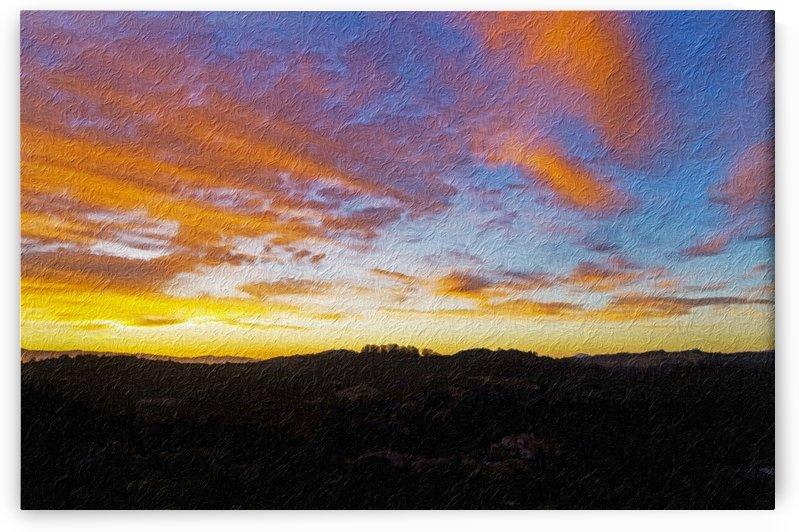 DIgital Painting of Santa Rosa Sunset by Bob Corson