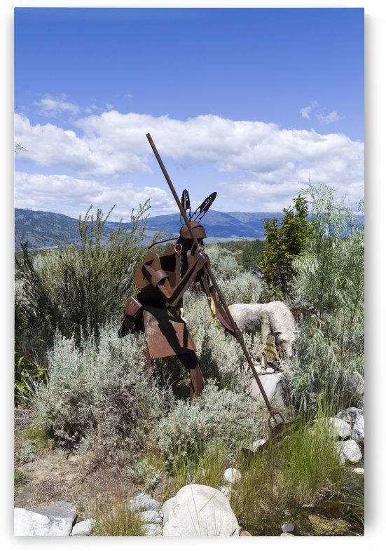 A Spear Fisher and His Dog 1 by Bob Corson