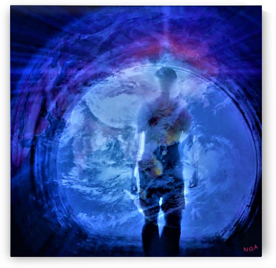 Man in a Tunnel  - Original Photograph - by Neil Gairn Adams by Neil Gairn Adams