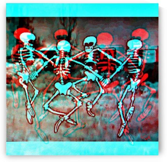 Dancing Skeletons - by Neil Gairn Adams  by Neil Gairn Adams