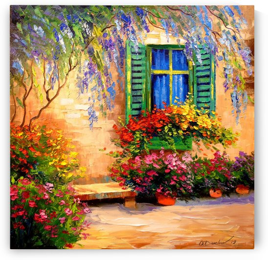 Blooming summer patio by Olha Darchuk