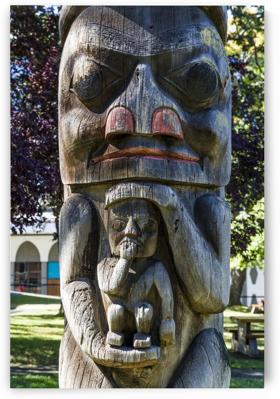 Totem Poles in Thunderbird Park Victoria BC 12 by Bob Corson
