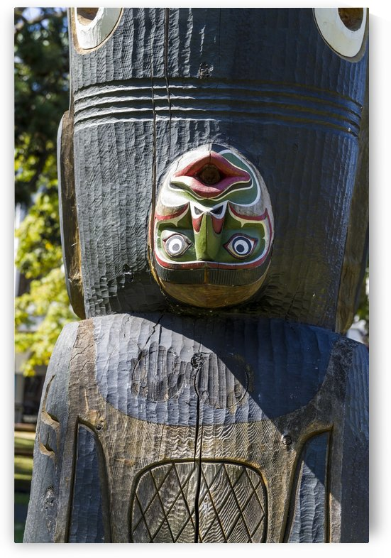 Totem Poles in Thunderbird Park Victoria BC 7 by Bob Corson