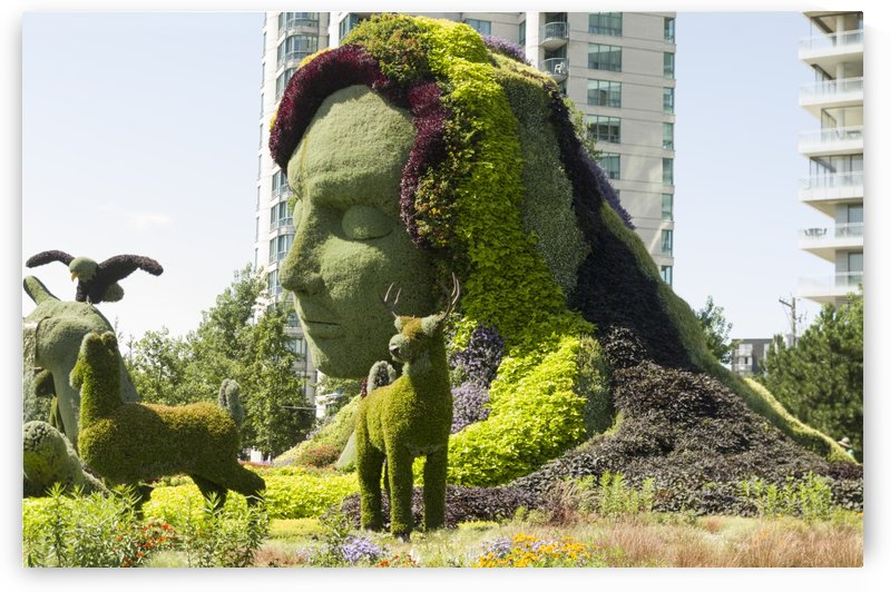 Mother Earth The Legend of Aataentsic with some of her creatures 4 by Bob Corson