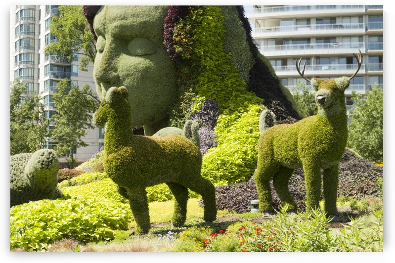 Mother Earth The Legend of Aataentsic with some of her creatures 10 by Bob Corson